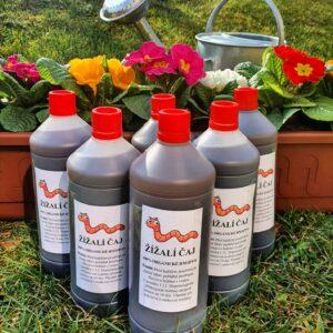 Žížalí čaj - tekuté přírodní hnojivo